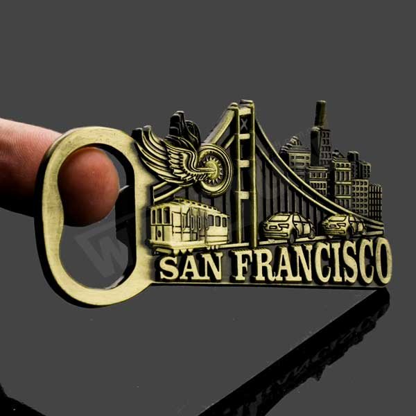 Wholesale San Francisco brass commemorative bottle opener