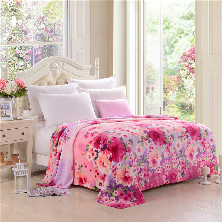 100% polyester coral printed blanket hign standard made in china wholesale polar fleece 100 polyester fleece blanket