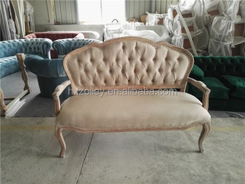Wood Frame Fabric Sofa Old Style