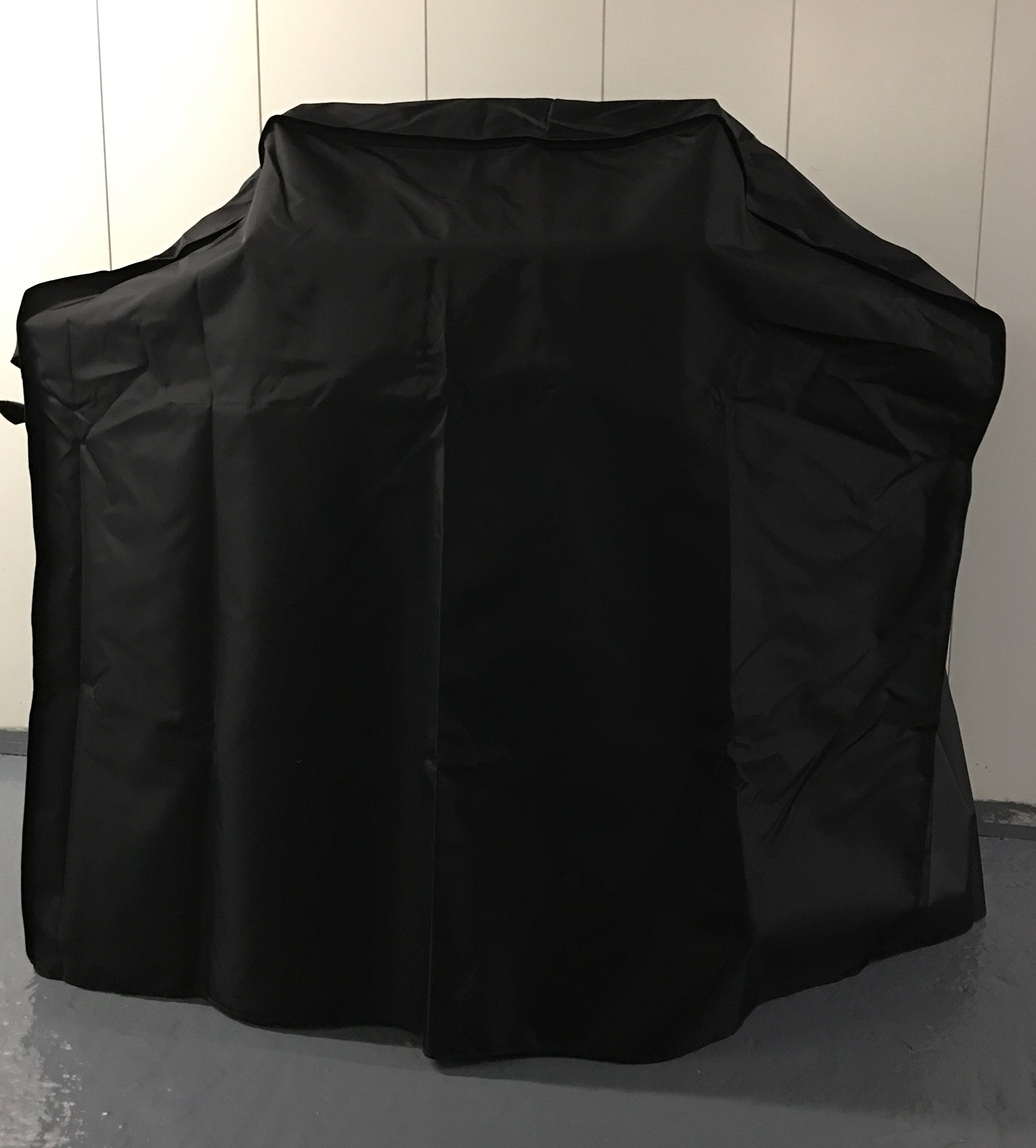 Comp Bind Technology Grill Cover for Weber Genesis II E-610 Gas Grill Custom Fitting Outdoor Marine Black Waterproof Cover - 68''W x 29''D x 45''H