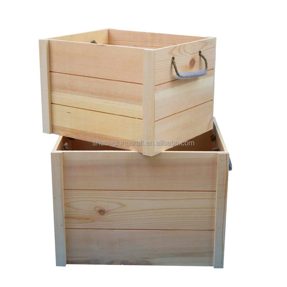 taille personnalis e logo bois caisse de stockage de. Black Bedroom Furniture Sets. Home Design Ideas