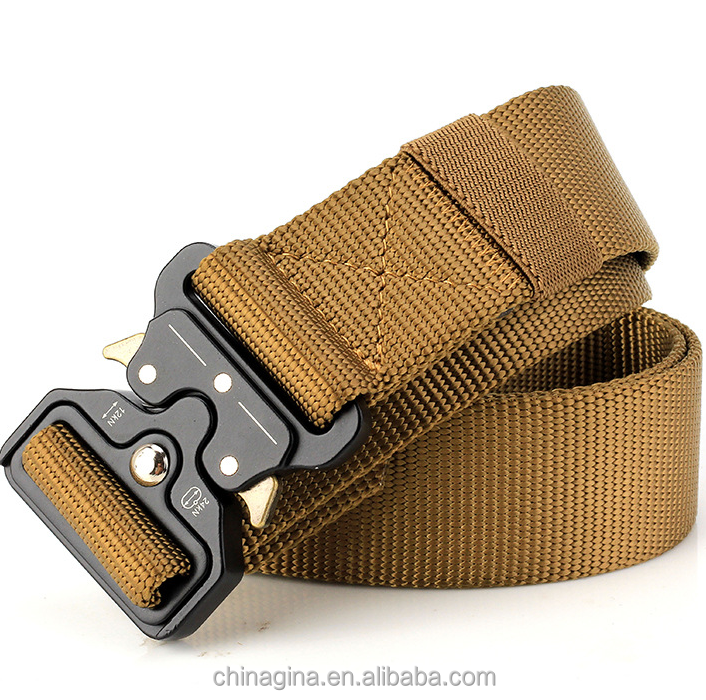 Men's Canvas Belt Metal Insert Buckle Military Nylon Training Belt Army  Tactical Belts For Men Best Quality Male Strap - Buy Fashion Big Wide