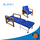 Delxue Portable Folding Bed Foam Folding Chair Bed Hospital Bed