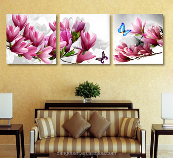 3panel Orchid Flower Art Canvas Painting Set Paintings Modern Pictures Coloridas Decoration For Living Room