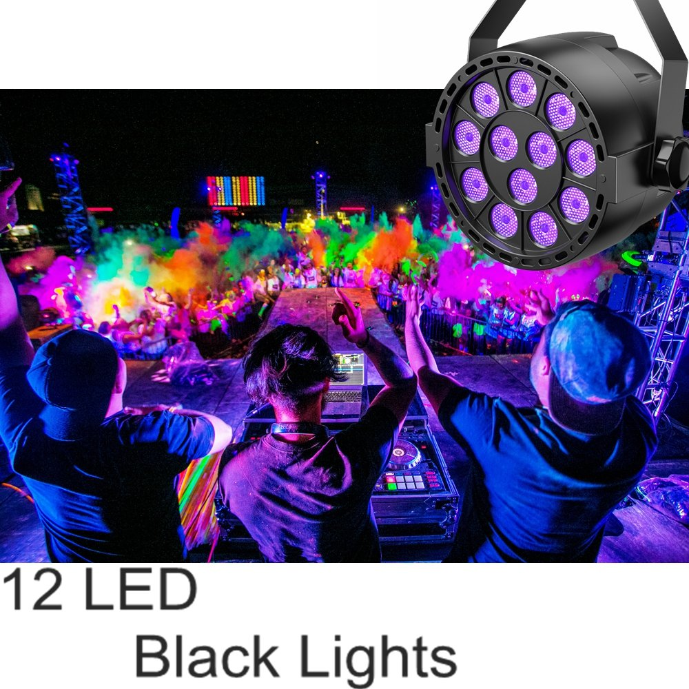 Uv Led Black Light Teckepic 12led Dmx Blacklight Violet