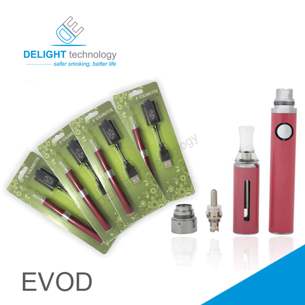 Evod MT3 blister pack electronic cigarette, Evod ego e cigarette kit with 650mah/900mah/1100mah battery, Black;silver;blue;red;pink;etc