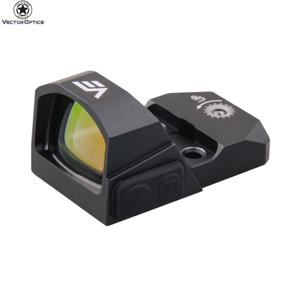 20000-Hour Vector Optics Frenzy 1X17X24 Waterproof 3MOA Red Dot Reflex Guns Glock 17 19 9mm Pistol Sight with Night Vision