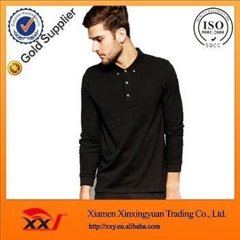 100% Cotton Men Black Thin Long Sleeve T Shirts Fashion Long ...