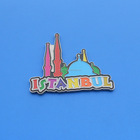 Souvenir travel metal fridge magnet Istanbul Turkey
