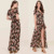 2017 New Autumn Fashion Long Romper For Women 2 Pieces Playsuits Dress Plus Size Floral Maxi Romper