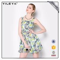 Cute Pattern Floral-Printing Advanced Apparel Dresses
