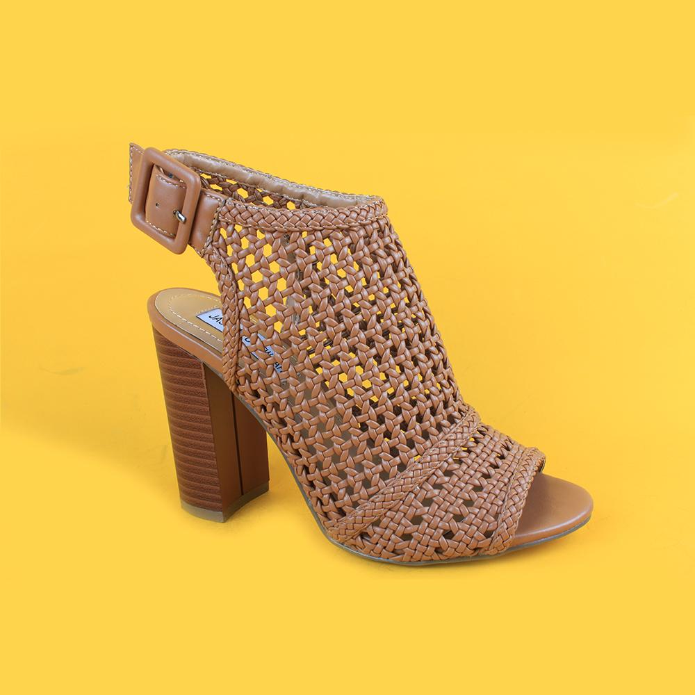 5d6f96953754 Women Brown Mid Heel Weaving Sandals For Lady - Buy Sandals