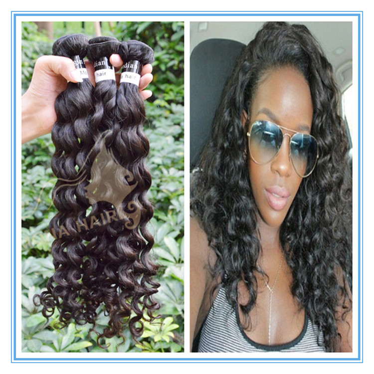 Great quality virgin indian hair raw unprocessed wholesale wet and wavy indian remy hair weave