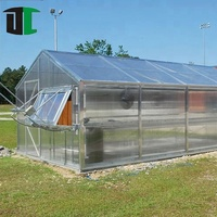 Professional multi-span agricultural vegetable glass greenhouse with 8 mm float glass for plant growing and seedling