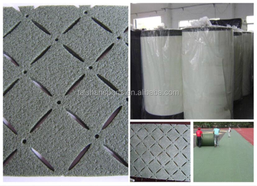 Football artificial grass field underlayment/turf underlay shock pad, Green