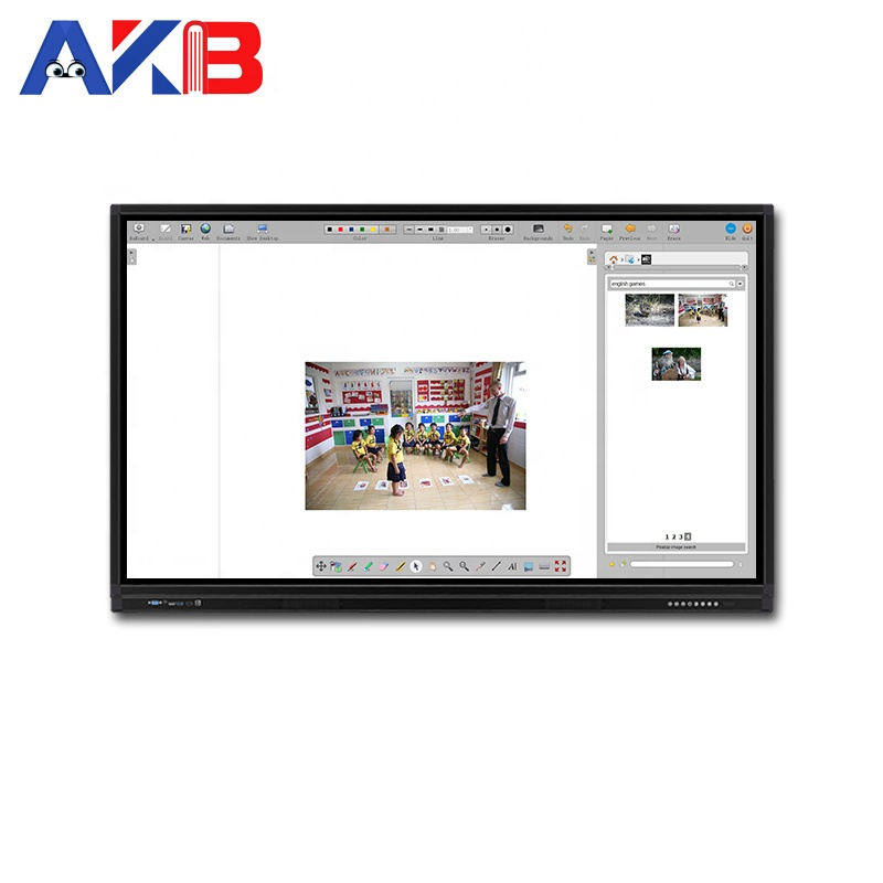 School Office Presentatie Infrarood Interactieve LCD Touch Screen Monitor 55 inch 65 inch 75 inch 86 inch