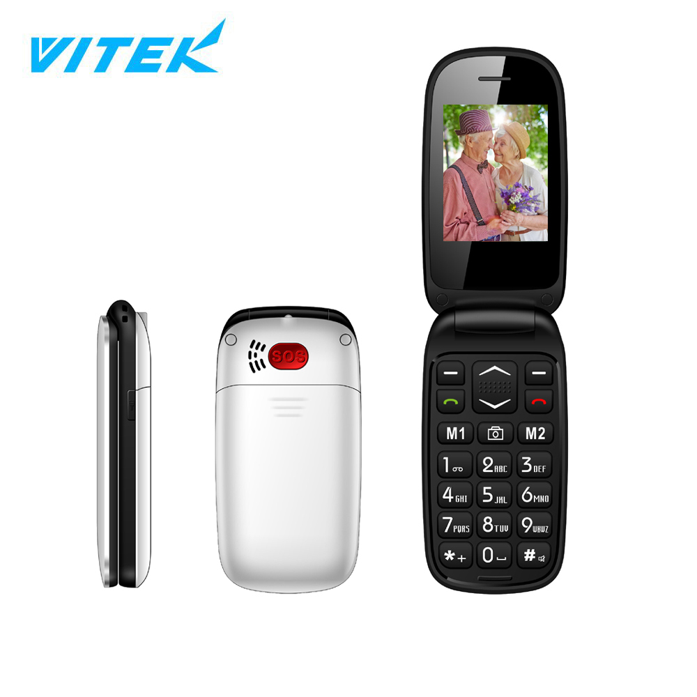 VITEK 2.4'' Emergency SOS Button 3G Dual sim big key old man mobile phone shop