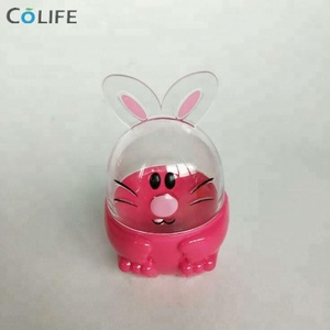 2018 wholesale low price plastic rabbit easter egg for easter decoration gift animal shaped ornament craft