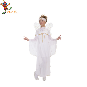 White Angel Costumes With Wing Halloween Costumes For Kids PGCC2101