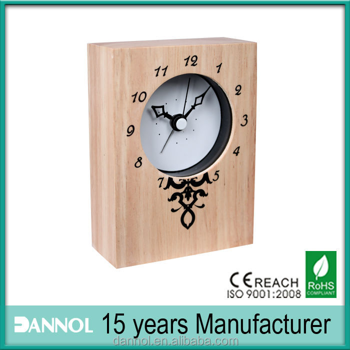 3inch ornaments for home wooden room desk clock/wanduhr kreativ