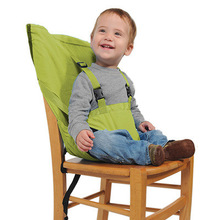 Portable Baby Chair Infant Seat Safety Belt Kid Feeding High Chair Harness Bag Hook On Chair Harness
