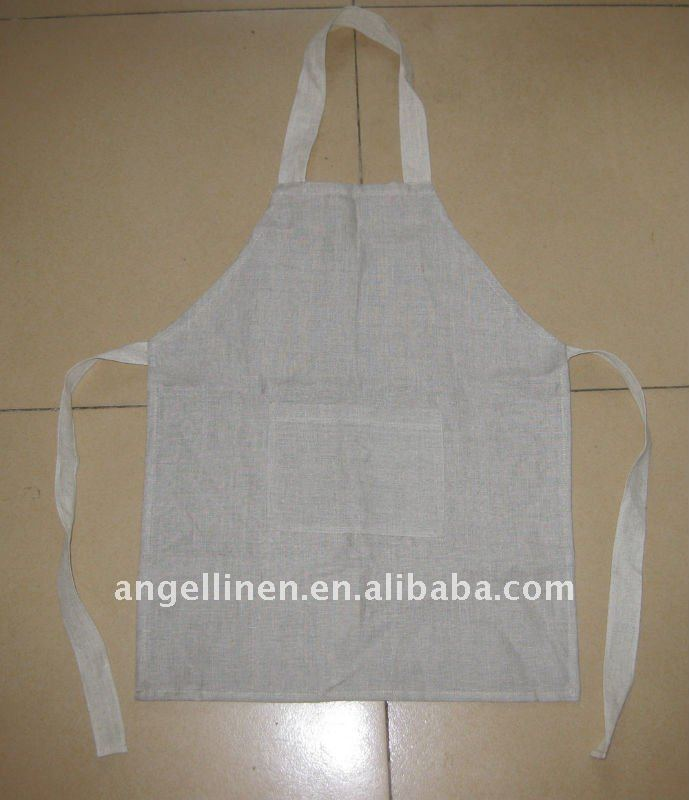 pure natural linen kid's apron with wide strape