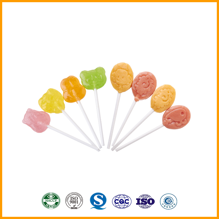 Lychee Fruit Jelly Candy Hard Lollipop Candy