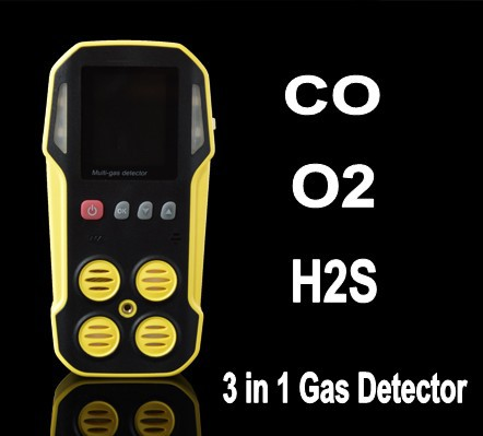 CO, O2, H2S Portable Multi Gas Detector