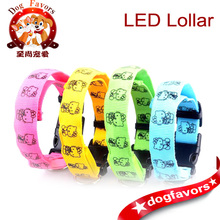 Wholesale - 4 Colors Battery Operated LED Flashing Pet Puppy Small Dog Harness Leash Collar Light and Pet Cat Dog Safety Light