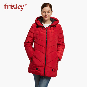 2018 Frisky women coat autumn and winter windproof parka FR-1526