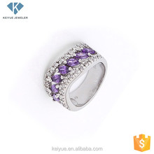 Pricing take samples 925 silver china cz women rings jewellery wholesale