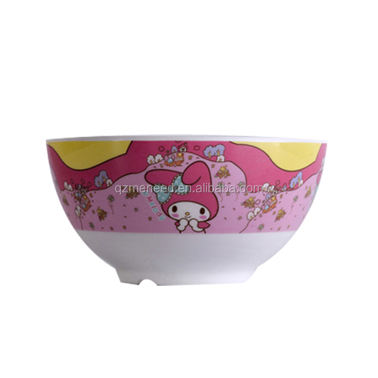 Cartoon printing kids use ecofriendly melamine rice soup bowl