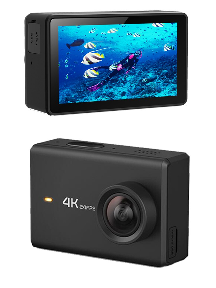 OEM Underwater newest wifi remote control waterproof sports camera dual screen video camera