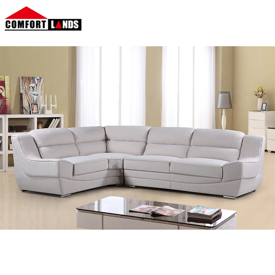 factory direct sale fabric white sectional 3 seater combined type sofa