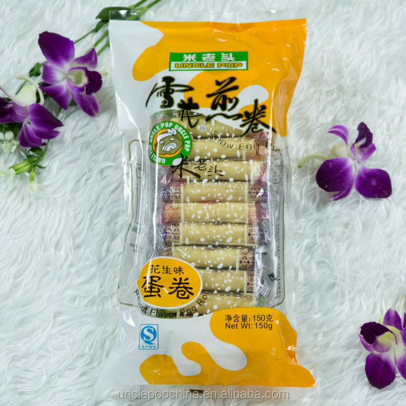 sweet and crispy peanut flavor 150g snow egg roll wafer