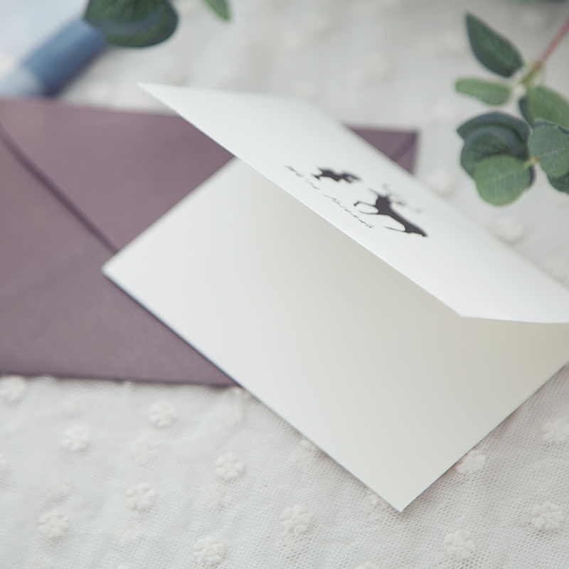 OEM Wholesale Handmade White Gift Card Thank You Card With Envelope