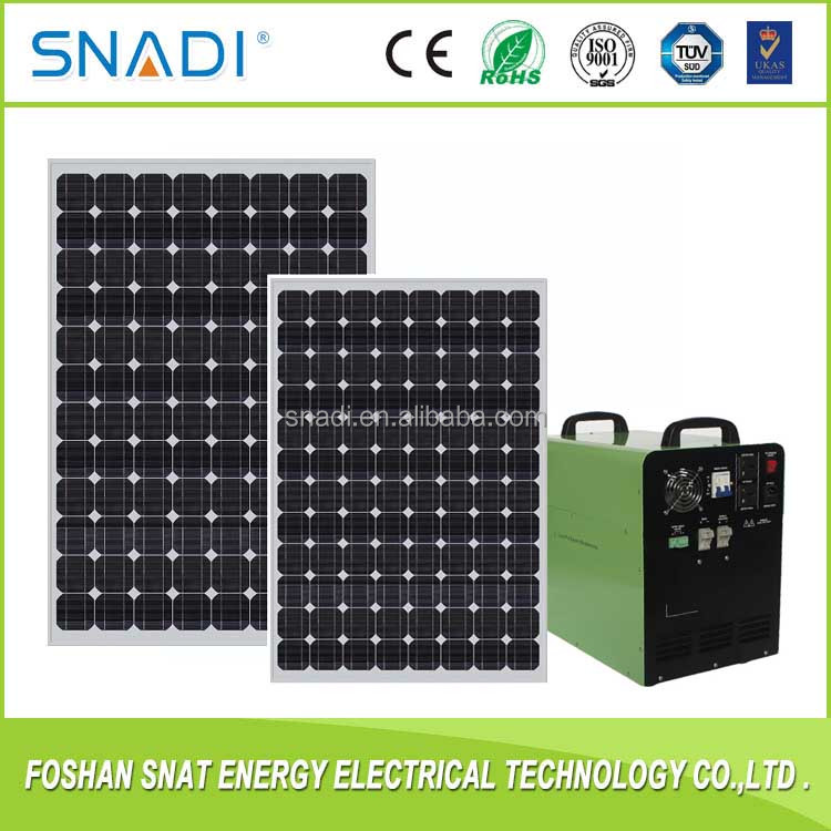 Portable 300W 500w 1000w 1500w Home Solar Power System for Lighting System