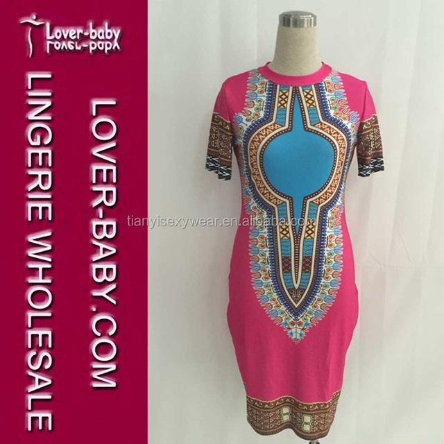 fc27e4697a1 Short-sleeves Bohemian Summer Dress Woman Traditional African Print Dashiki  Bodycon Dress Lady African Dress