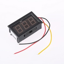 LCD DC 3.2-30V Red LED Panel Meter Digital Voltmeter with Two-wire MTY3 Brand New