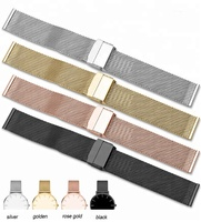 12mm to 24mm Shark 316L Solid Metal Watch Strap Mesh Bracelet 12mm 14mm 16mm 18mm 24mm 20mm 22mm Stainless Steel Watch Band