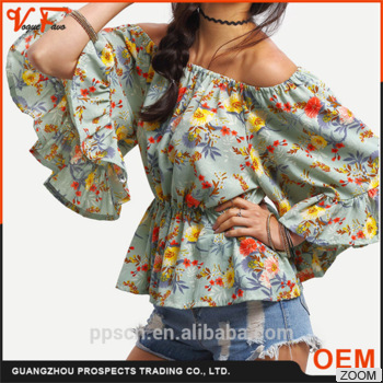 Women Clothing manufacturer new style EUROPE and America OL long sleeve ladies blouse