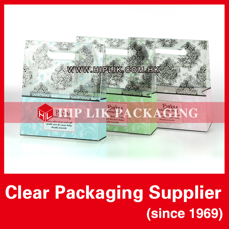 Unique Soft Crease Clear Plastic Gift Packaging Boxes