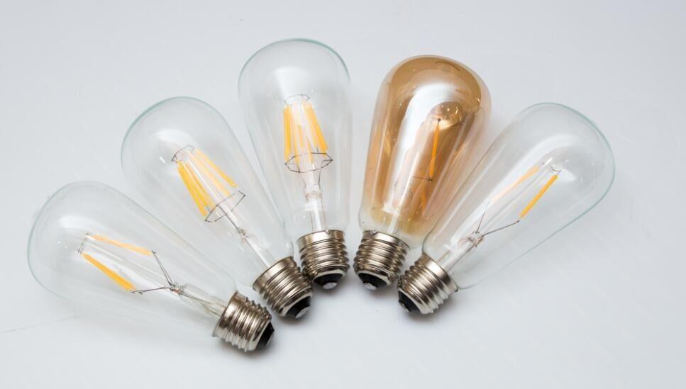 Dc 12v Filament Edison Led Bulb St64 E27 B22 Vintage Lamp 24v Led 4w ...