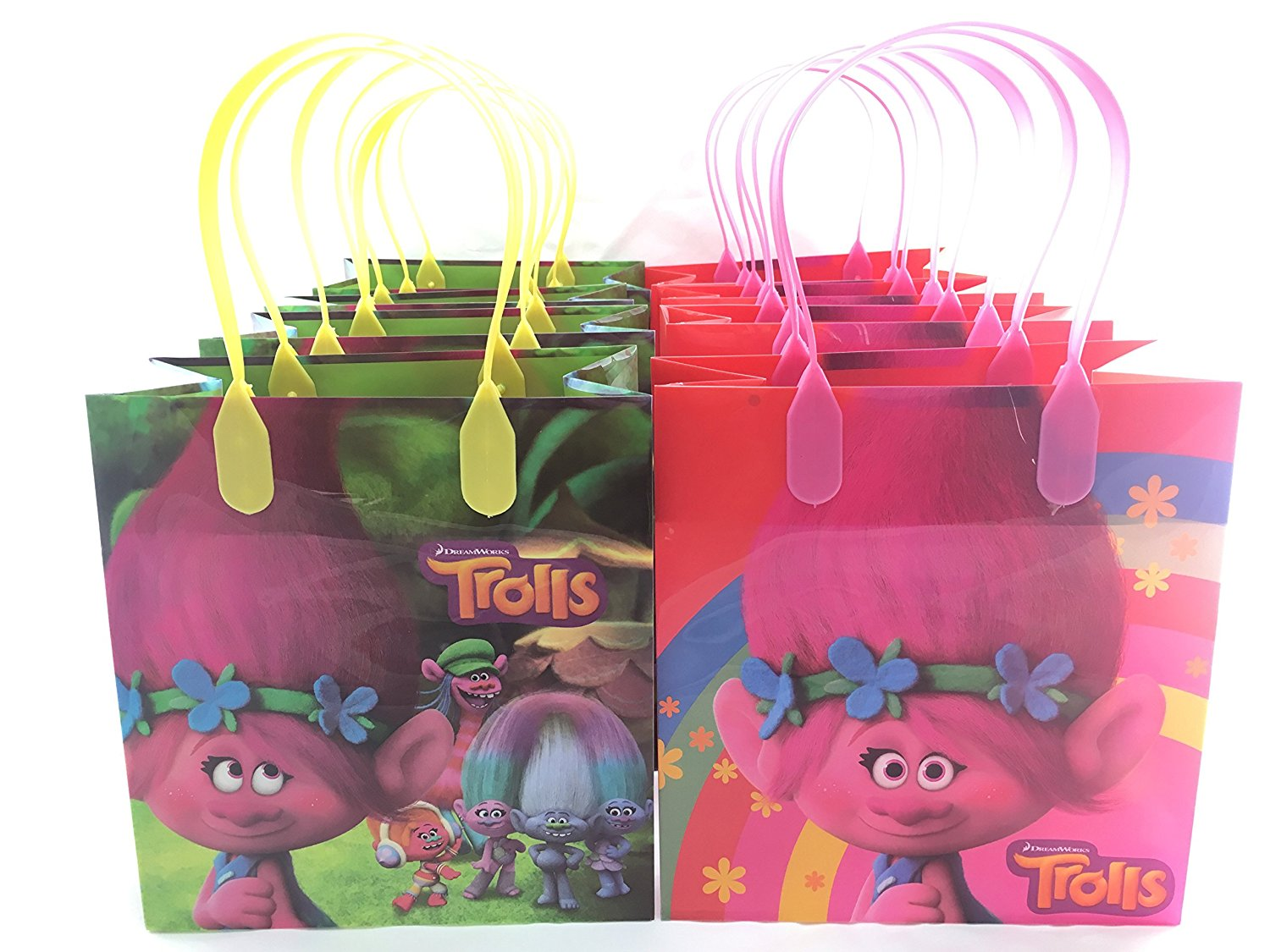 Dream Works Trolls 12 Pcs Goodie Bags Party Favor Gift Birthday