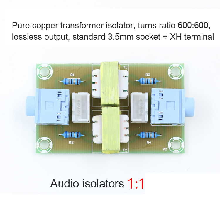 XH-M372 Stereo Audio Isolator Vehicle Ground Common Suppression Noise Insulation