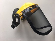 Excellent eye and face protection against flying particles yellow face protector for brush cutter