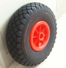 wagon cart / hand trolley pu foam rubber wheels 3.00-4