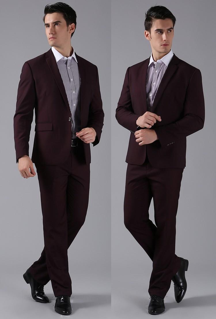 (Kurtki + Spodnie) 2016 Nowych Mężczyzna Garnitury Slim Fit Niestandardowe Garnitury Smokingi Marka Moda Bridegroon Biznes Suknia Ślubna Blazer H0285 70