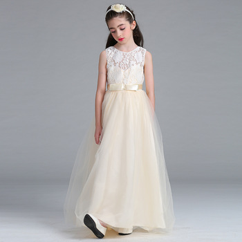 3c822ba5430d Children Prom Dresses Long And Puffy Nice Party Dresses Lace006 ...