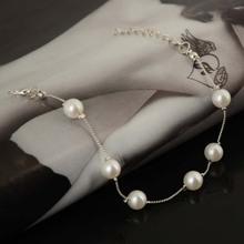 YANTU Fashion Jewelry Bohemia Elegant White Imitation Pearl Bracelets & Bangles Thin Bracelets For Women Jewelry[JB06263/YT]
